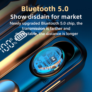 Image 3 - AIRVOLT F9 V5.0 Bluetooth 5.0 Earphones TWS Fingerprint Touch Headset HiFI Stereo In ear Earbuds Wireless Headphones for sport