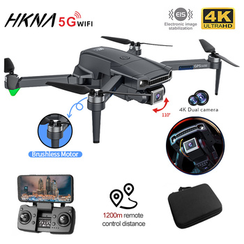 HKNA L800Pro RC Drone GPS 6k Professional HD Dual Camera Brushless Aerial Photography Wifi Foldable Quadcopter 1.2 KM Distance