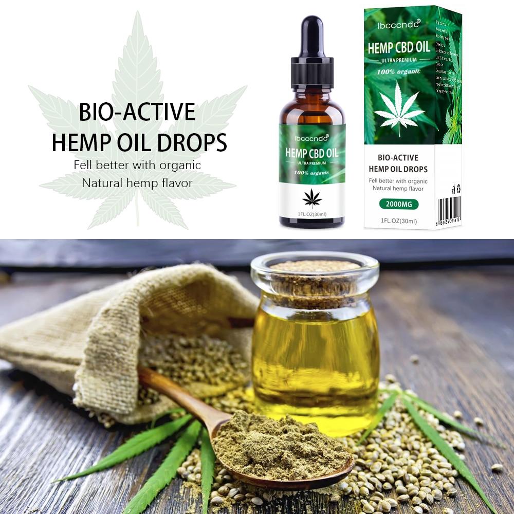 15ml Bio-active Hemp Oil Drops Seed Essential CBD Oil Massage Essence Skin Care Help Sleep Herbal Body Relieve Stress