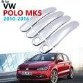 Luxuriöse Chrom Türgriff Abdeckung Trim Set für Volkswagen VW POLO 6R 6C MK5 2010 ~ 2016 Zubehör Auto Aufkleber 2013 2014 2015-in Autoaufkleber aus Kraftfahrzeuge und Motorräder bei