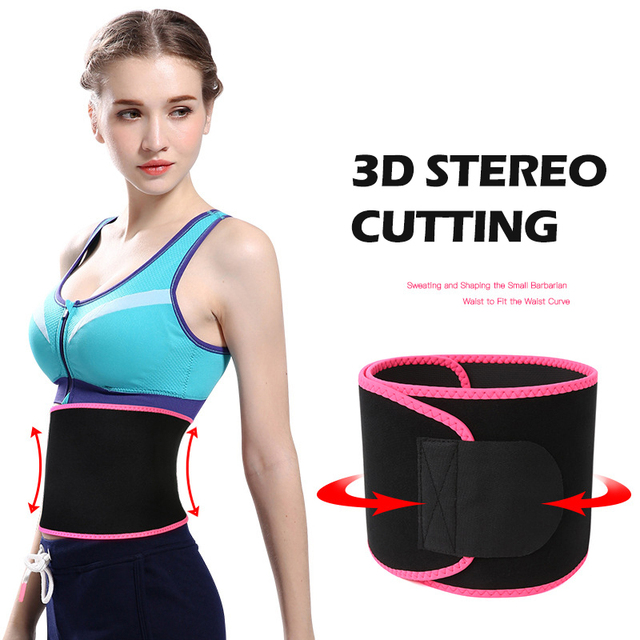 Adjustable Waist Tummy Trimmer Slimming Sweat Belt Fat Burn Shaper Wrap Band Weight Loss Exercise back support for lift XA14E 1