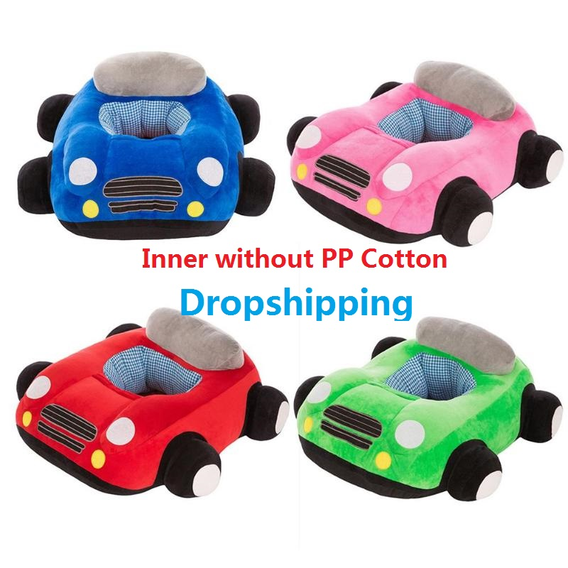 Baby Seats Sofa Toys Car Seat Support Seat Soft Plush Sitting Chair Support Seat Learning To Sit Toys Without Filler