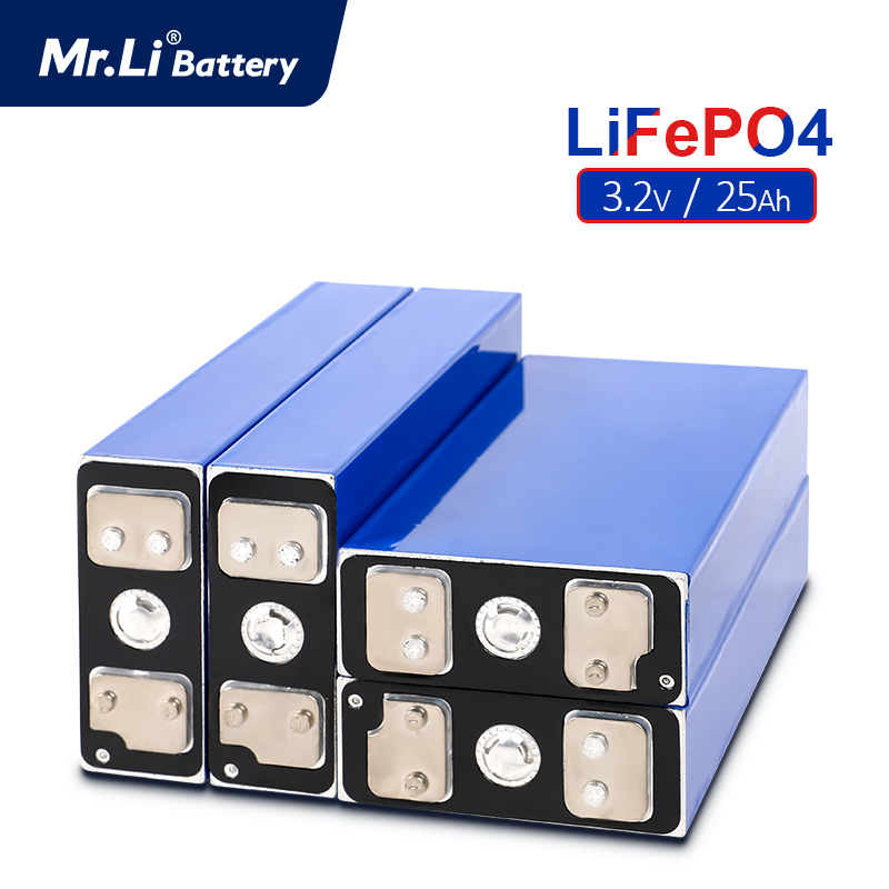 Mr.Li 3.2V 25Ah Lifepo4 Battery Cell 4pcs/8pcs/12pcs/16pcs  Rechargeable Battery Used In Solar UPS Low-speed Electric Vehicles