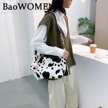 Женская сумка багет baowomen мессенджер на плечо из искусственной