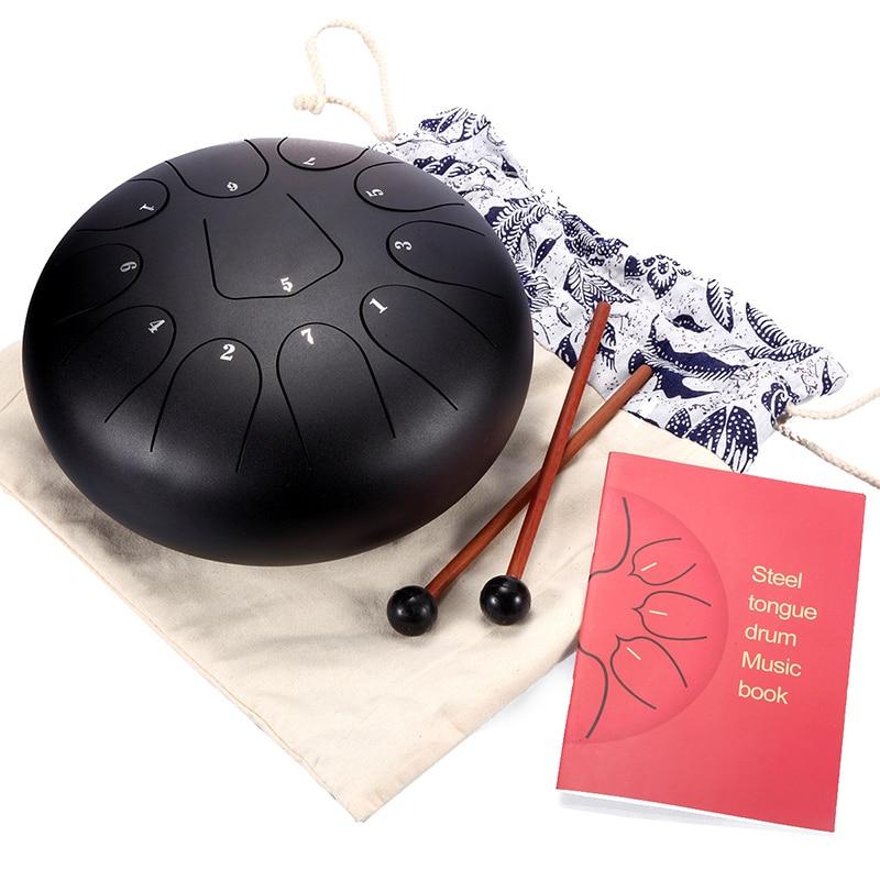 8 pouces langue en acier tambour Mini 11 tons en acier inoxydable alliage main Pan tambour réservoir accrocher tambour ensembles Instrument de Percussion