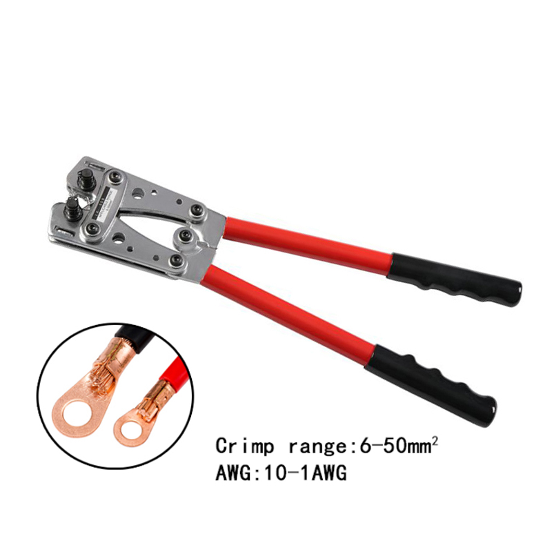 Carbon Steel Electric 10-1AWG Crimping Pliers Cable Cutter Electrician Tools