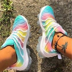 2020 mulheres das Sapatilhas de Verão Ao Ar Livre Calçados Esportivos Multicolor Lazer Confortável Lace Up Plus Size Sapatos Zapatos De Mujer Casuais