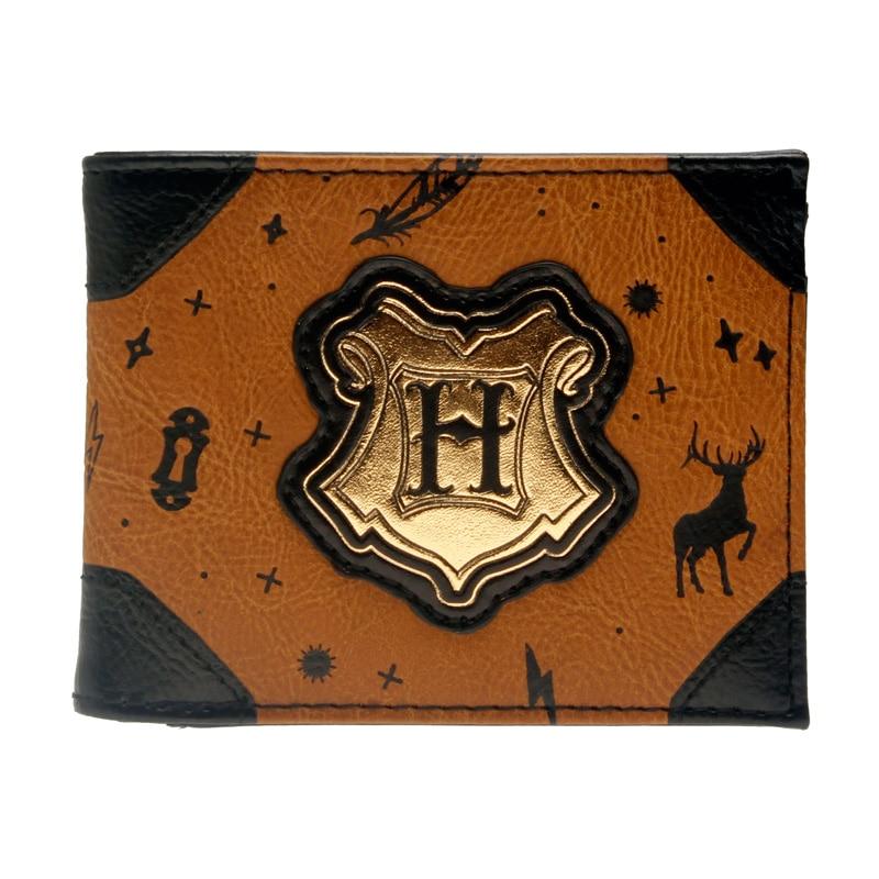 Hogwarts Printed Embossing Bi-Fold Men Wallet Women Purse
