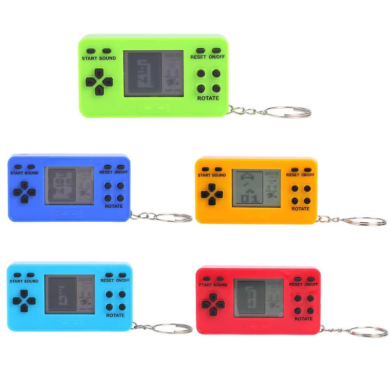 26 in 1 Game Player Mini Classic Retro Nostalgic LCD Gaming Console Keychain Handheld Gamepad Kids Education Toy for Gift