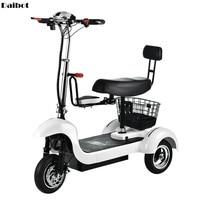 Potente patinete eléctrico de 3 ruedas, 12 pulgadas, para adulto, con asiento para niño, 500W, 35 KM/H
