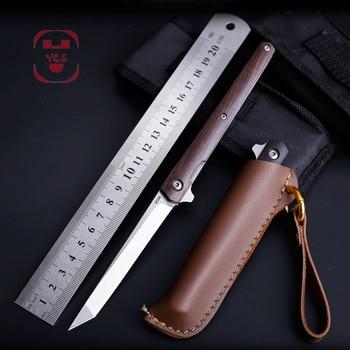M390 Steel Fold Knife CS Go Portable Pocket Solid Wood Folding Knife Camping Hunting Knife Slicing Fruit Knives  OutdoorTool EDC 2