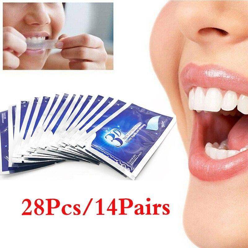 28 шт. отбеливание зубов сухой зубная паста отбеливающий для зуб липкие отбеливающий гель полосы высокие эластичные Уход за полостью рта гиг...