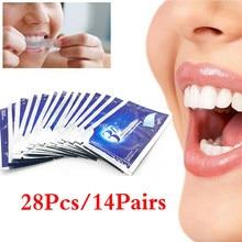 28 pçs dente branqueamento pasta de dente seco branqueamento dente pegajoso gel clareamento tira alta elástica higiene oral cuidados dentífrico