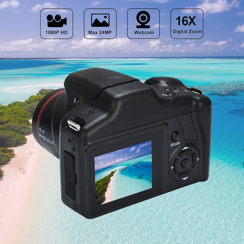 Профессиональная фотокамера SLR телефото цифровая камера 16 миллионов пикселей фотография 1080P видеокамера с 16-кратным цифровым зумом камера s