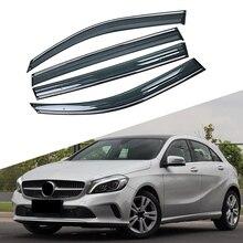 Для Mercedes-Benz A-Class 2012- W176 окна автомобиля солнце дождь тени козырьки щиток Shelter Защитная крышка отделка рамка наклейка