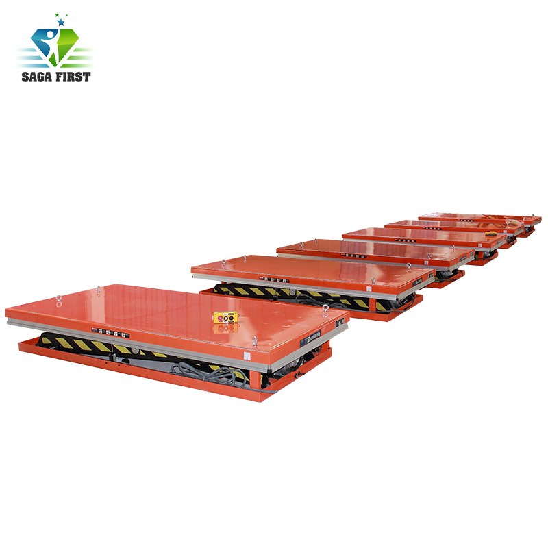SAGAFIRST In Ground Scissor Lift Table For Cargo CE Approved