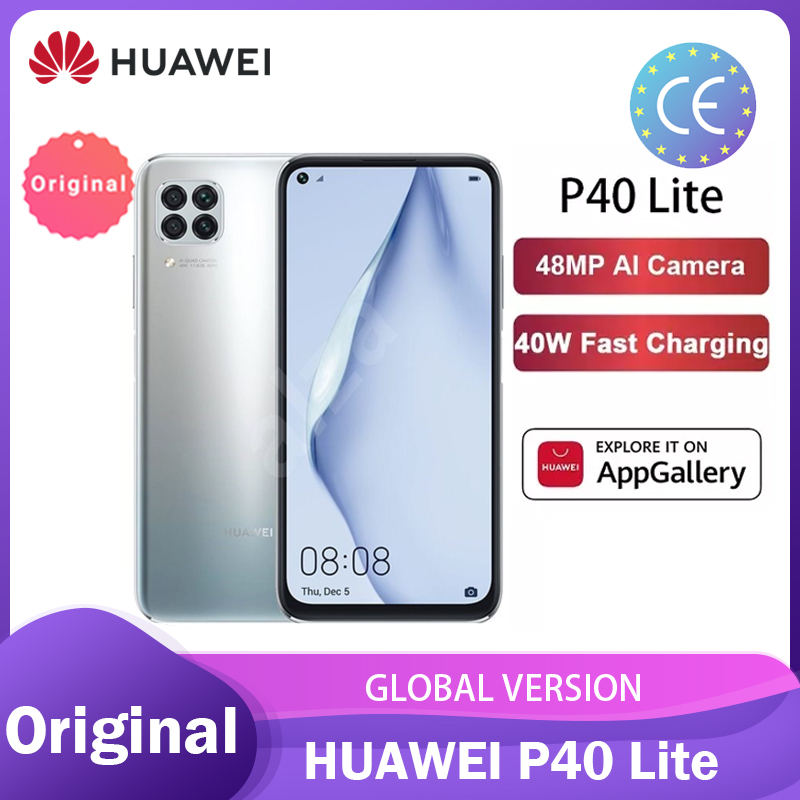 Huawei P40 Lite 6+128GB smartphone Global Version NFC 48MP AI Cameras Kirin 810 Octa Core 6.4'' FHD Screen 40W Charging телефон