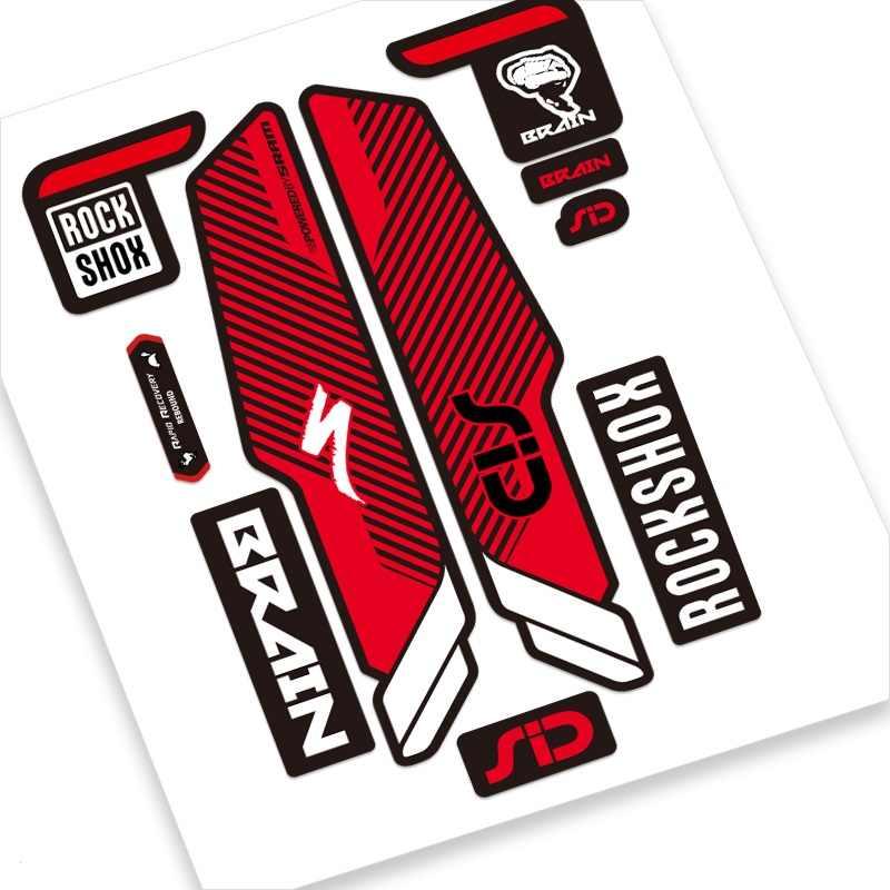 Rock Shox SID Brain 2017 Mountain Bike Cycling Decal Sticker Adhesive Red