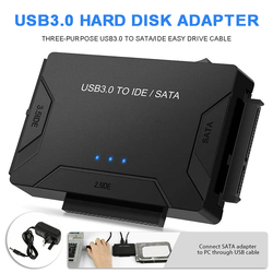 New DC 5V/2A USB 3.0 to IDE SATA Converter Cable Hard Drive Adapter for 2.5/3.5 HDD SSD Computer Optical Drive Connectors