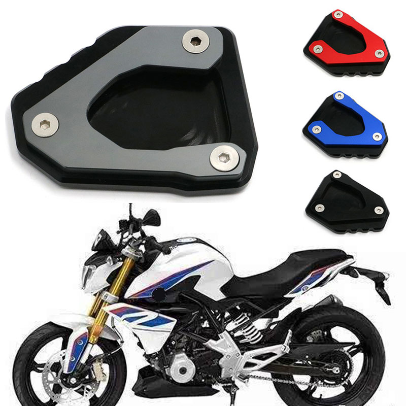 <font><b>G</b></font> <font><b>310</b></font> <font><b>R</b></font> Motorcycle Kickstand Side Stand Plate For BMW G310R <font><b>G</b></font> 310R 2017 2018 Enlarge Extension Packing Support Plate Pad image