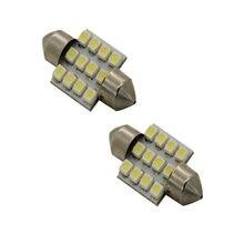 Top sprzedaży 2 sztuk samochodowe światła sygnałowe 31mm 12-SMD DE3175 DE3022 Carro LED żarówki samochodowe akcesoria samochodowe wewnętrzna lampka Dropshipping