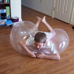 TPR wielofunkcyjne nadmuchiwane balony dorosłe dziecko dekompresyjne kolorowe przezroczyste odporne na rozdarcie wycisnąć zabawkę|Nadmuchiwane trampoliny|Zabawki i hobby -