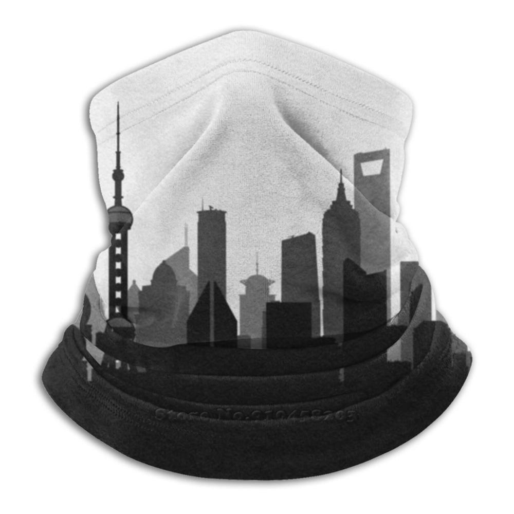Travel Posters | Destination : Shanghai 3D Bandana Face Neck Warmer Soft Fleece Mask Sport Scarf