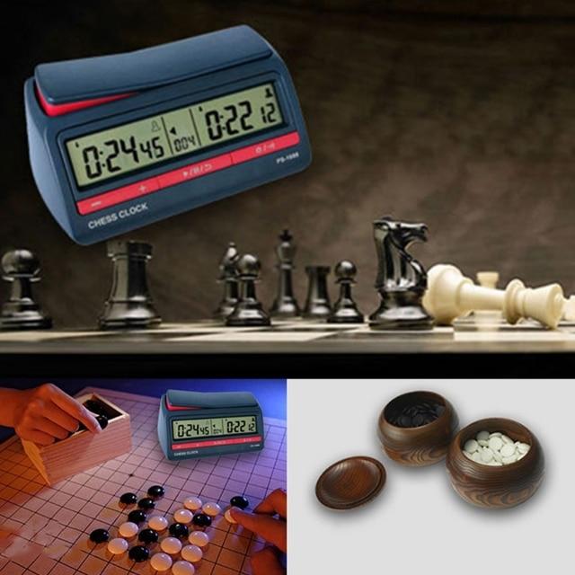 Horloge d'échecs avancée minuterie numérique compte à rebours horloge de jeu de société 5