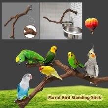 Стоячая палка для домашних животных, птица, попугай, дикая Виноградная деревянная палка, попугай для кокатила, кусающая Когтеточка, шлифова...