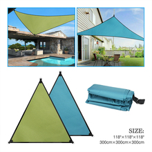 UV Block Shade Sail Shelter Awning fabric Waterproof Sunshade cloth canopy outdoor Sunscreen Patio Garden balcony
