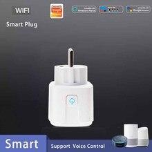 16A ЕС Wi-Fi Smart Plug дистанционного Управление Таймер 110 V-230 V Wifi Беспроводной смарт-розетка с Google Home Alexa Голосовое управление Управление