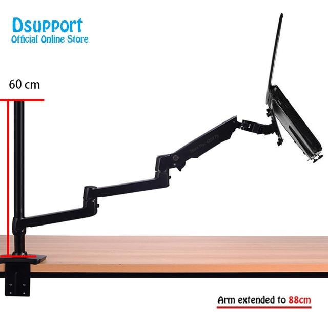 Aluminium Desktop Mount Ultra Lange Arm Dual Gebruik Laptop Bureau/Tablet Monitor Houder Arm Full Motion notebook Beugel