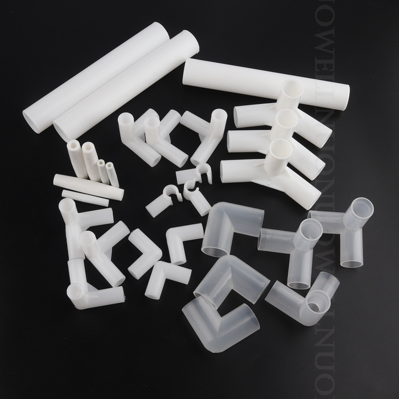 10/20/50/100pcs PE Connector Plastic PE Joint Wardrobe Shoe Rack Tent DIY Skeleton Tube Fittings Pipe Adapter
