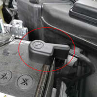 Para Nissan X-Trail XTrail Rogue T31 T32 2007-2018 motor negativo de la batería clips de abrazadera Terminal conectores pegatinas Shell
