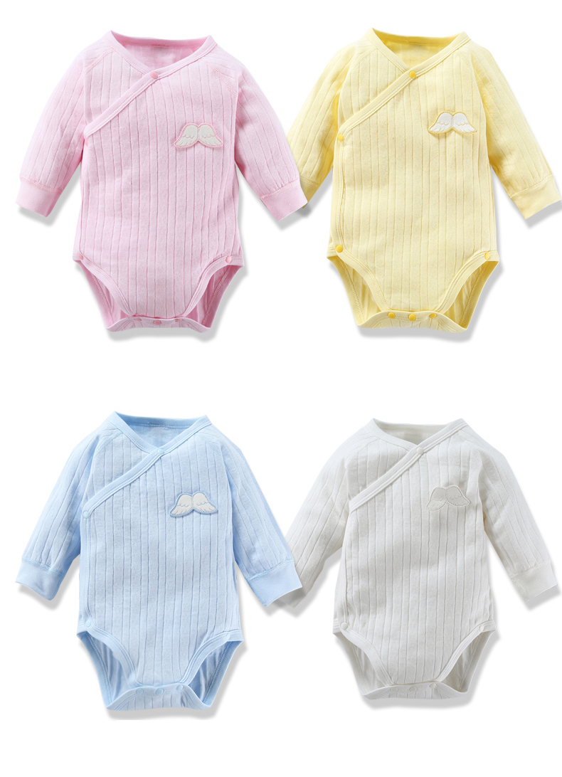 Baby Bodysuit Long Sleeves Baby Autumn Girls Clothes Boys Clothes 100% Cottonside Opening Baby Bodysuit Clothes 3D Butterfly