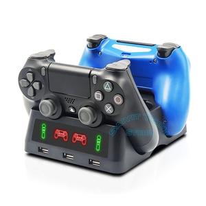 Image 4 - 最新PS4 ps移動vr psvrジョイスティックゲームパッド充電器スタンドコントローラ充電ドックps vr移動ps 4ゲームアクセサリー