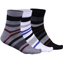 Men's 5 Five-Finger Toe Socks Cotton Mid Calf Socks Thick Co