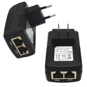 RJ45 POE Power Ethernet Adapter Power Injector RJ45 Adapter Connectors Power Supply 48V/0.5A US EU Plug POE Splitter Adapters