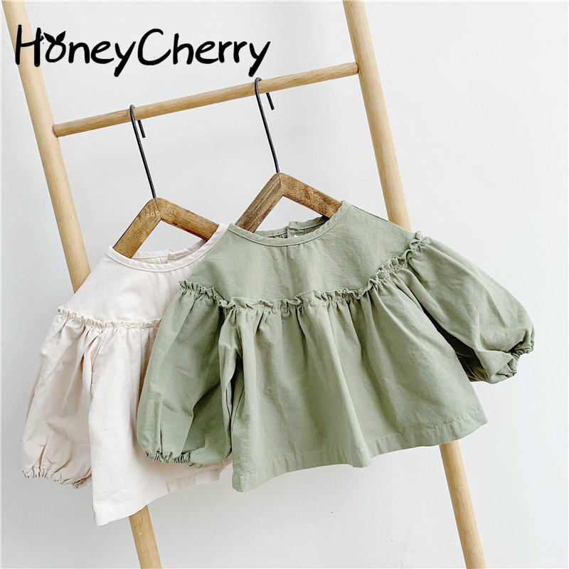 Baby Shirts Girls Children Spring And Autumn 2020 New 1-3 Year Old Children's Coat Long Sleeved Shirt