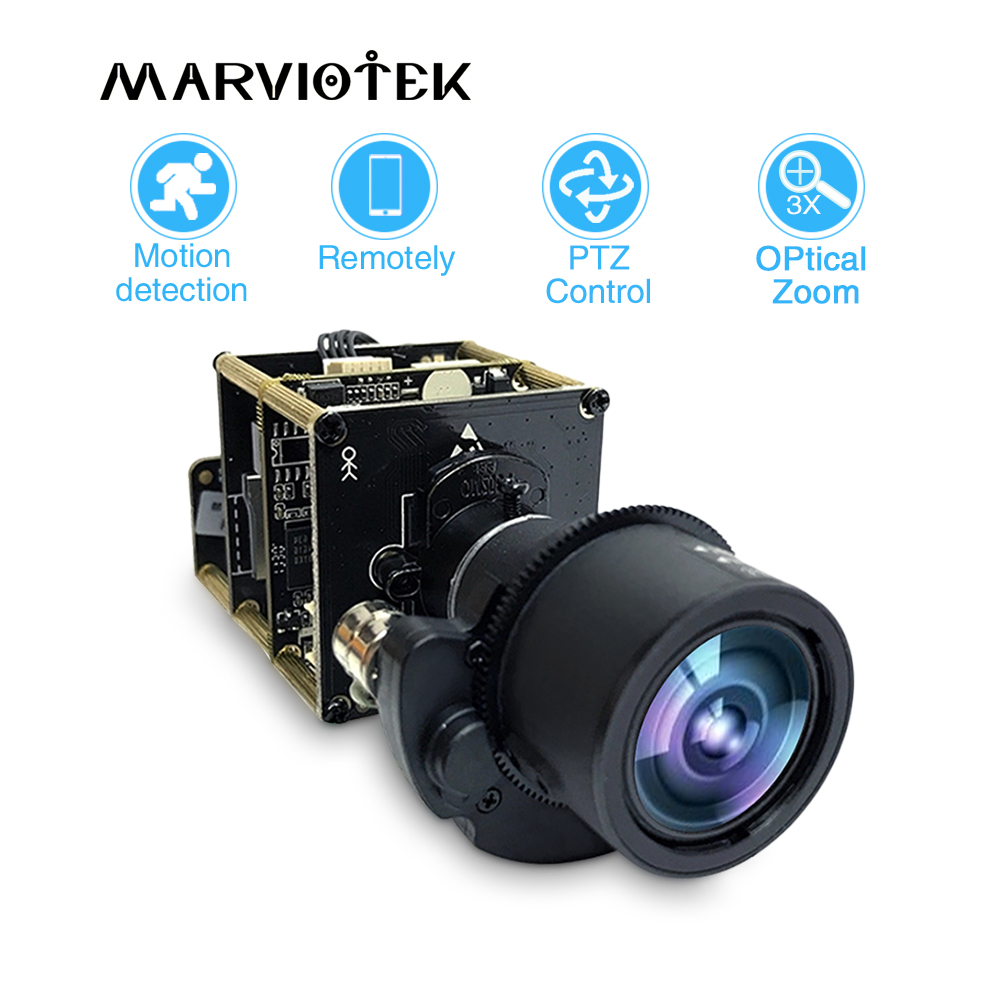 4K 12MP Starlight UHD Camera Module 3X Zoom 3-11mm Motorized Lens Sony IMX226 Onvif PTZ Network IP Camera Board H.265