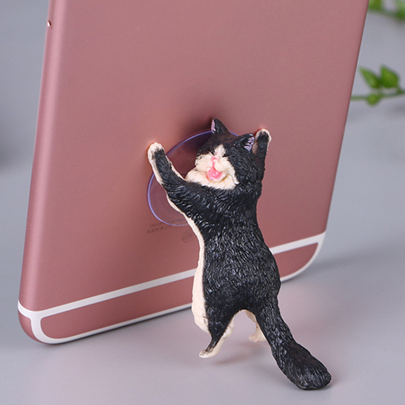 Wedding Gifts for Guests Kids Phone Holder Cute Cat Support Resin Mobile Phone Holder Bridesmaid Gift