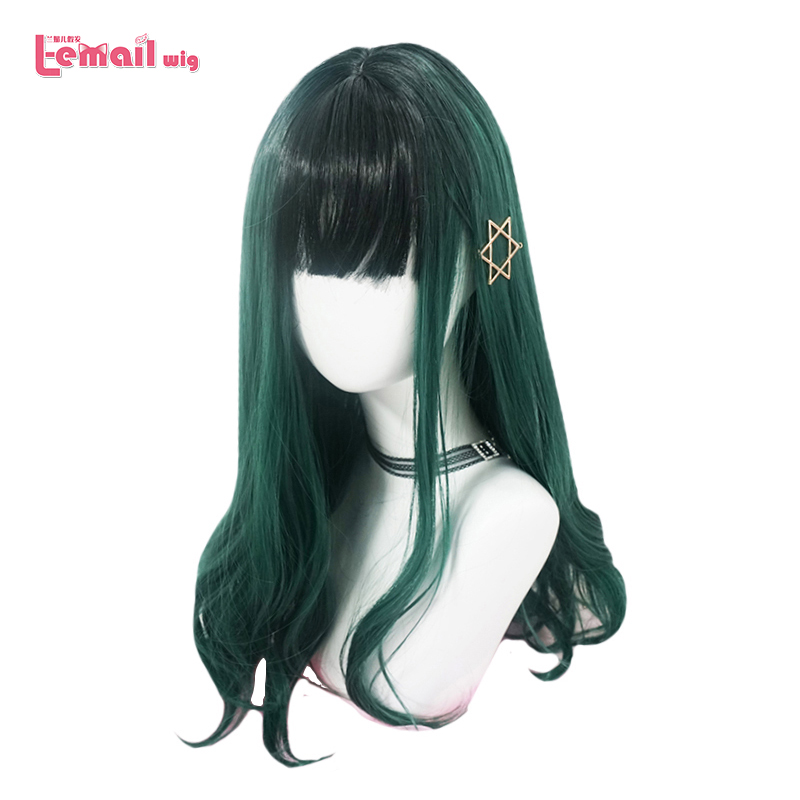L-email Wig Long Green Lolita Wig My Hero Academia Cosplay Izuku Midoriya Wig Women Hair Heat Resistant Synthetic Hair Perucas