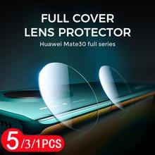 Protecteur d'écran pour huawei mate 20 20X 30 lite pro, 5/3/1 pièces, en verre trempé pour objectif d'appareil photo