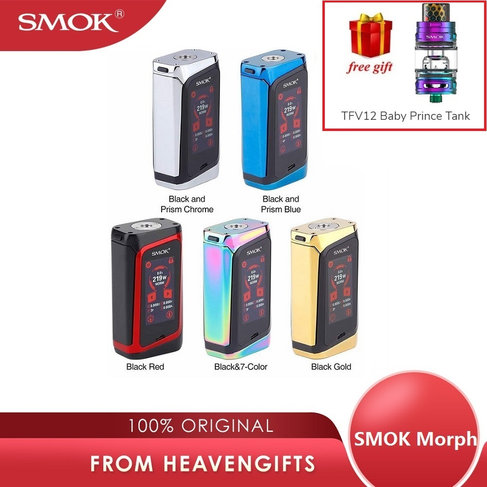 Réservoir gratuit 291W SMOK évolution 219 écran tactile TC boîte MOD avec 0.001S vitesse de feu et grand écran SMOK Mod vs Gen Mod/glisser 2/Shogun-in Cigarette électronique Mods from Electronique    1