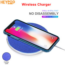 HEYPOD Wireless Charger For iPhone 11 X XR 8 plus 10W QC Fast Wireless Charging For Samsung S9 S10 S8 Note 7 8 9 USB Charger Pad(China)