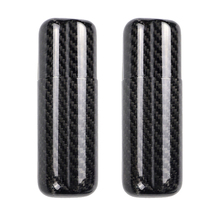 2x Black Carbon Fiber Glossy Surface Cigar Travel Holder Case 2 Count Cigars