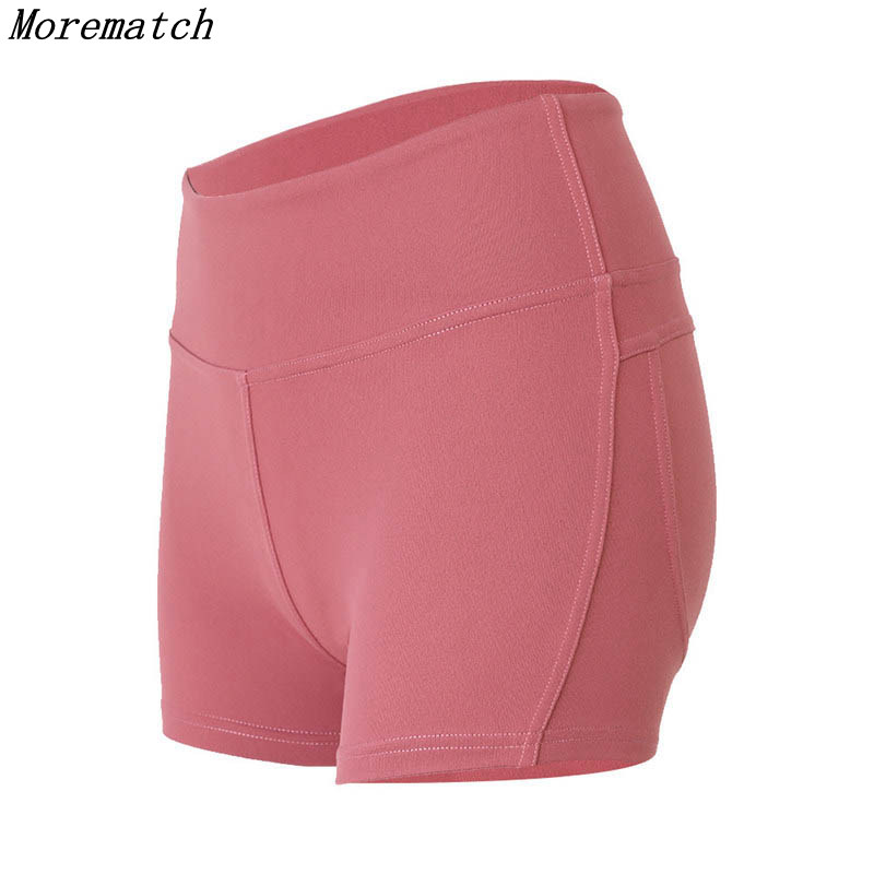 Morematch Sports Gym Shorts Women In Yoga Shorts High Waisted Quick-drying Fitness Running Elastic Tight Shorts