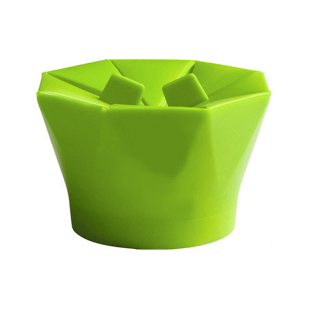 New High Quality Poptop Popcorn Popper Maker DIY Silicone Microwave Popcorn Maker Fold Bucket Red Green Kitchen Tool