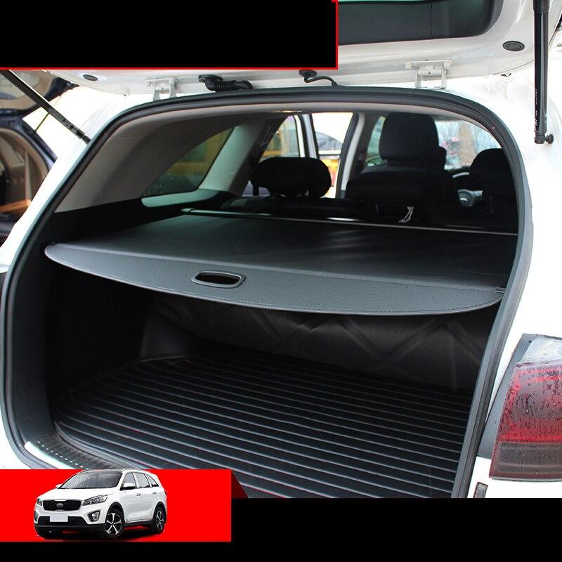 Lsrtw2017 Car Trunk Cargo Curtain Cover For Kia Sorento Prime 2015 2016 2017 2018 2019 2020 Um Auto Accessories