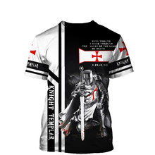 Templar Knight 3D Print Men T-shirt 2021 Summer O Neck Short Sleeve Tees Tops 3D Style Male Clothes Fashion Casual T-shirts